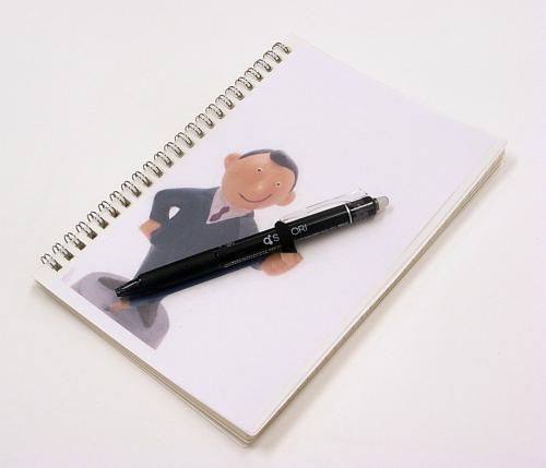 ペンホルダー付きノートの写真